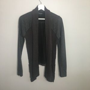 Lucky Brand Grey Game Day Cardigan